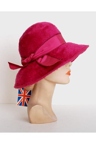 hot pink vintage hat