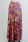 Pink-maxi-long-gauze-vintage-skirt
