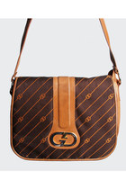 Vintage 70s Gucci Brown Monogram Shoulder Bag