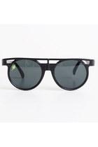 Vintage 80s 90s Round Black Sunglasses Shades