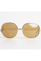 Vintage 60s 70s Gold Oversized Sunglasses by COOL-RAY Polaroid