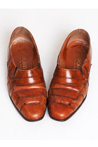 Size 6 1/2 Vintage 90s Brown Leather Oxfords 36.5