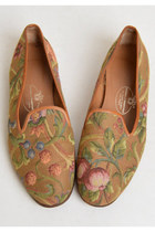 Vintage 90s Stubbs & Wootton / Tapestry Loafers, 9.5 40.5