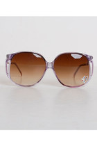 Vintage 70s Boho Oversized Purple Butterfly Sunglasses