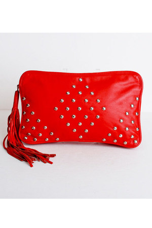 red vintage purse