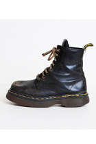 Size 8 Vintage 90s Black Leather Dr Martens 39