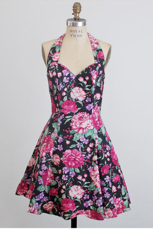 hot pink vintage rampage dress