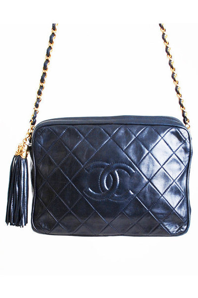 Chanel Bags Quot Vintage 90s Chanel Navy Lambskin Quilted