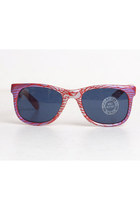 Vintage 80s 90s Red & Silver Eagle Sunglasses