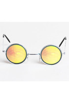 Vintage 90s Silver & Gold Hologram Eye Sunglasses Shades