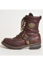 Vintage 90s HARLEY DAVIDSON Motorcycle BOOTS / 1990s Leather Lace Up Boots, 11.5