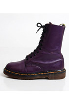 Size 6 Vintage 90s Purple Leather Dr Martens 36