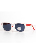 Vintage 80s 90s Red & White Stripe Sunglasses Shades
