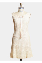 Vintage 60s MOD Lace Scooter DRESS / 1960s Floral Ivory LACE Mini, s