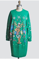 Vintage 80s 90s Ugly Christmas Sweater Dress Sweatshirt