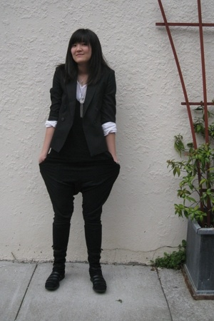 jacket - Elizabeth &amp; James shirt - Splendid shirt - Zara pants - boots