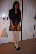 vintage blazer - vintage skirt - kayser tights - amy rosa shoes