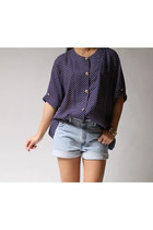 Navy-blouse
