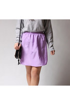 light purple Twisted Moss skirt