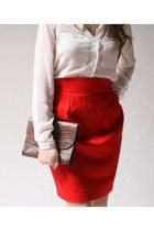 red Rafael skirt