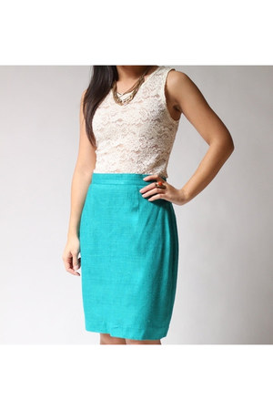 turquoise blue Jaff by Carol Anderson skirt