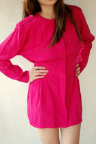 Hot-pink-pj-klein-petites-dress