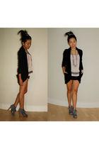 pink Kimchi Blue top - gray Costa Blanca shoes - black talula babaton blazer - g