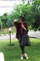 black tote kandang sapi buntal bag