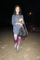 blue shoe corner shoes - light purple tie dye Luna Maya for Hardware leggings