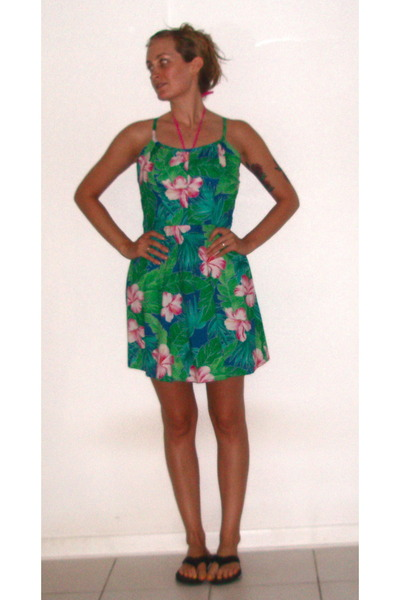 green VV LUTZ dress - black Target shoes - pink Target swimwear