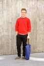 Black-topman-pants-ruby-red-american-apparel-sweater