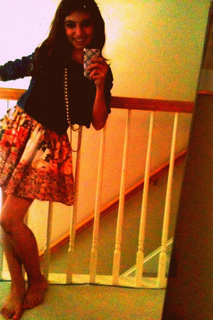 black Khols shirt - red Claires accessories - orange Marshalls skirt - blue Targ