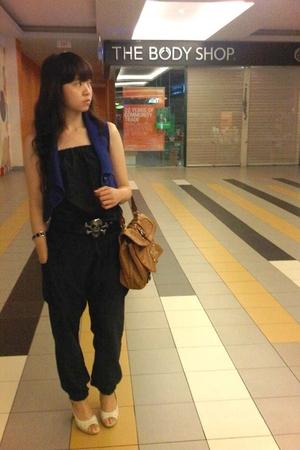 Zara suit - Mango vest - Guess purse