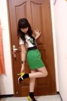 Zipper mini skirt!!