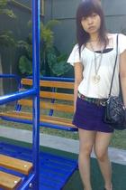 Mango t-shirt - Zara skirt - Zara purse - Zara shoes