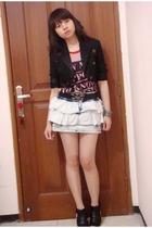 Mango blazer - Zara top - Zara skirt