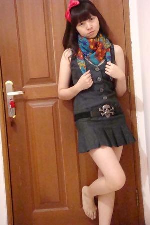 Nefertiti jewelz accessories - Zara scarf - Zara dress - Zara belt
