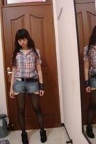 Zara shirt - Body&Soul shorts - Zara belt - Zara shoes