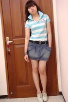random boutique shirt - Zara skirt