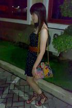 Zara Trf dress - Zara purse - shoes