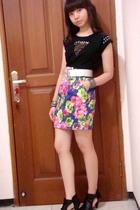 Zara t-shirt - random boutique skirt