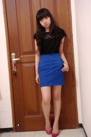 Mango top - Zara skirt - Zara shoes