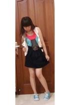 Mango vest - Body&Soul top - Zara belt - Zara skirt