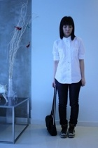 Filippa K shirt - Muji jeans - nike shoes - agnes b purse