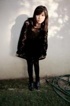 sweater - dress - boots