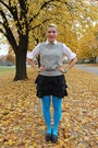 Light-blue-sky-blue-betsey-johnson-tights