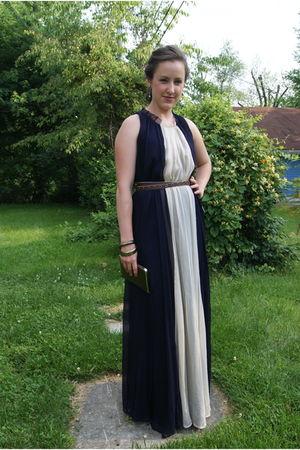 blue JCrew dress - brown Hollywood Intuition for Target belt - brown Target brac