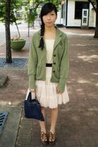 winners blazer - top - Forever 21 skirt - Spring Shoes shoes