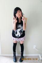 payless boots - Zara shirt - Forever 21 skirt - from japan socks