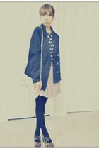 magenta naturalizer shoes - black H&M blazer - light pink Aldo Accessories bag